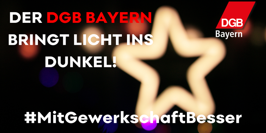 Lichtaktion des DGB Bayern