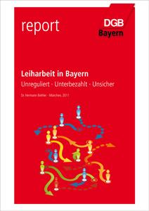 Titelbild des Reports Leiharbeit in Bayern
