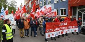 Demonstrationszug zum Augsburger Rathausplatz