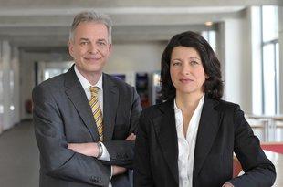 Geschäftsführender Vorstand Matthias Jena und Dr. Verena Di Pasquale
