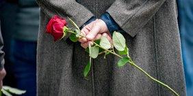Gedenken Gedenkfeier Rose
