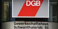 Das Gewerkschaftshaus in München mit DGB-Fahne