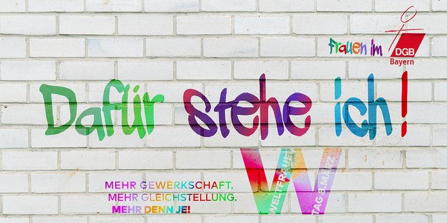 Foto-Aktion der bayerischen DGB-Frauen