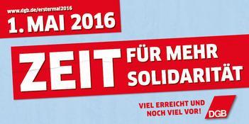 1. Mai Plakat 2015: Die Arbeit der Zukunft gestalten Wir