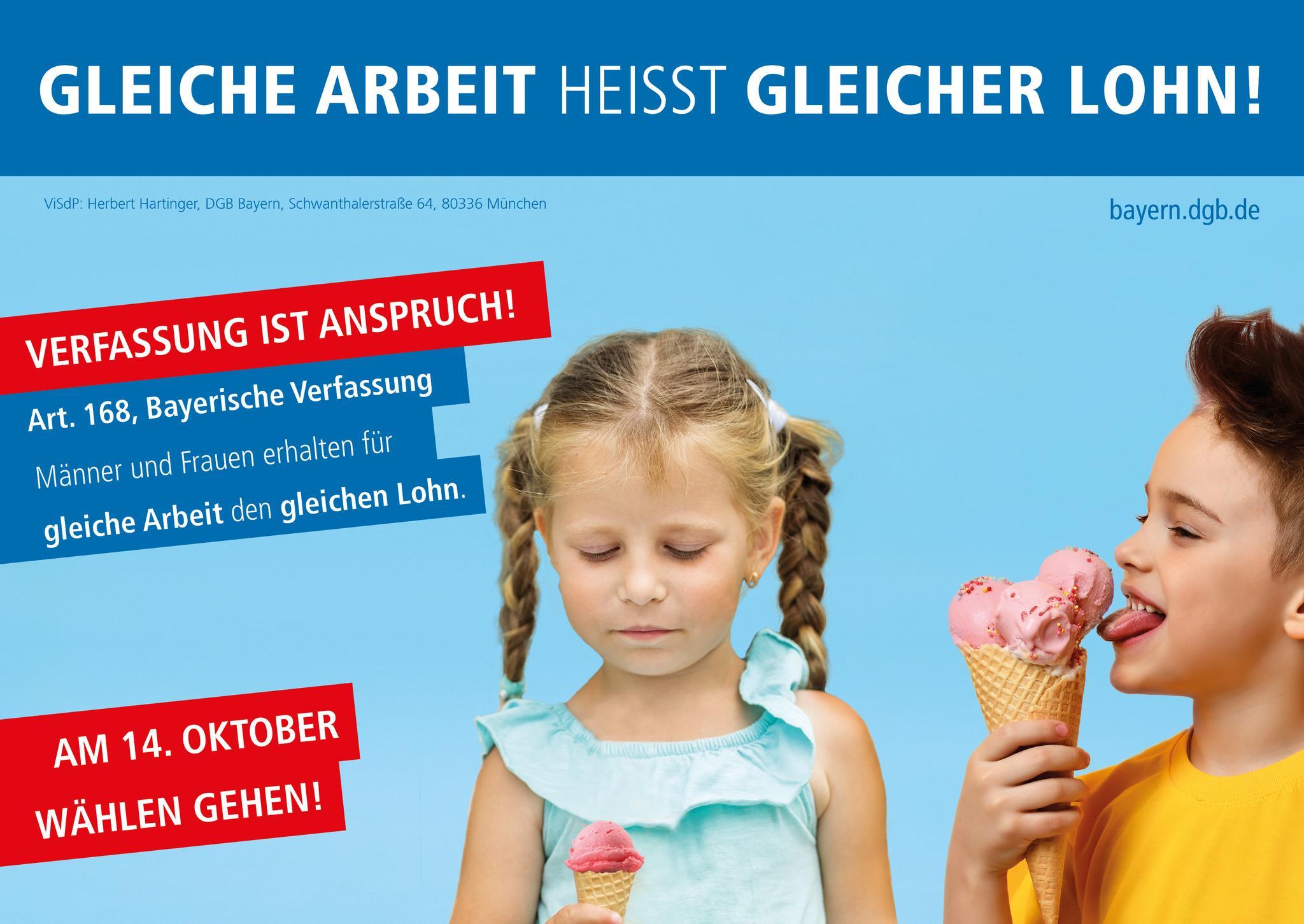 """""""Verfassung ist Anspruch!"""" – Gleiche Arbeit heißt gleicher Lohn!"""