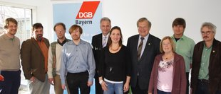VertreterInnen des Bayerischen Bündnisses für einen gerechten Welthandel bei der PK zur Vorstellung des Bündnisses.
