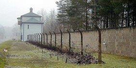 Noch erhaltene Zaunanlagen in Sachsenhausen