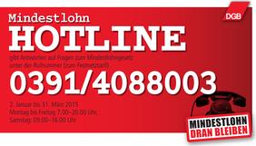Mindestlohn-Hotline 0391/4088003