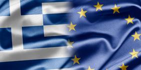 Fahnen Griechenland Europa EU