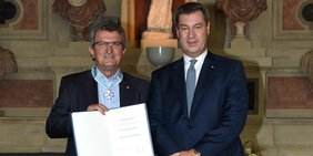 Verleihung des Bayerischen Verdienstordens an Jürgen Wechsler
