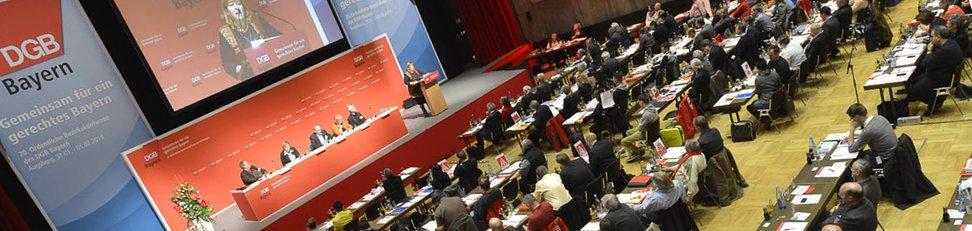 Die Unterlagen für die 20. Ordentliche Bezirkskonferenz des DGB Bayern.