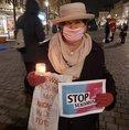 Fotoaktion Nein zu Gewalt an Frauen