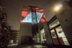 Lichtaktion am Gewerkschaftshaus in der Schwanthalerstraße