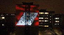 Lichtaktion des DGB München am Gewerkschafthaus in der Schwanthaler Straße
