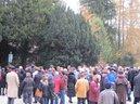 Kranzniederlegung am Krematorium